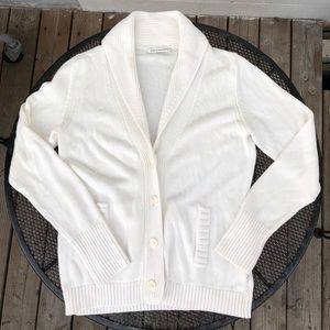 BANANA REPUBLiC soft Thick Cotton cream Cardigan L